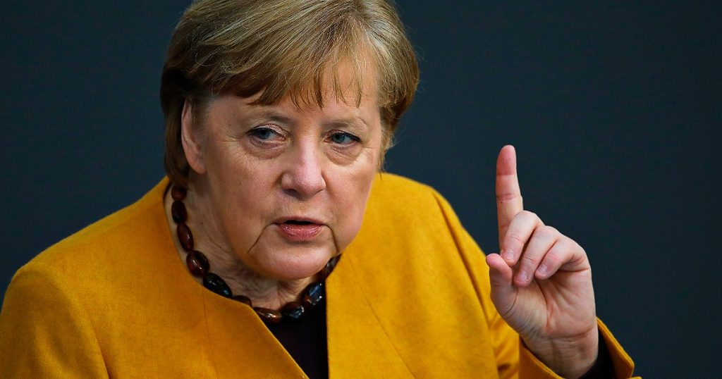 """Merkel defends the closures and curfews, saying: """"A very dangerous image, Covid cannot be forgiven.""""  The infection is returning, the Germans move around too much"""