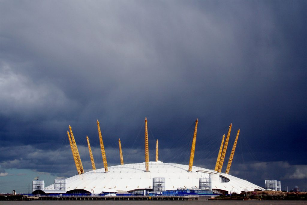 London's O2 Arena is testing wind turbines for renewable energy