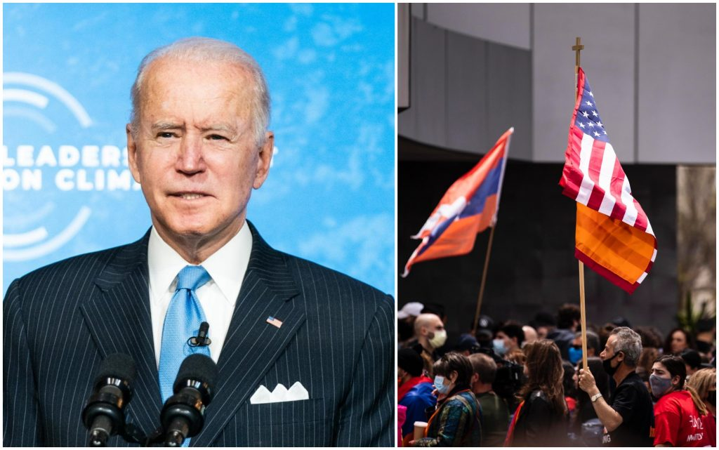 Biden acknowledges the Armenian genocide and tensions with Turkey.  Ankara summons US ambassador