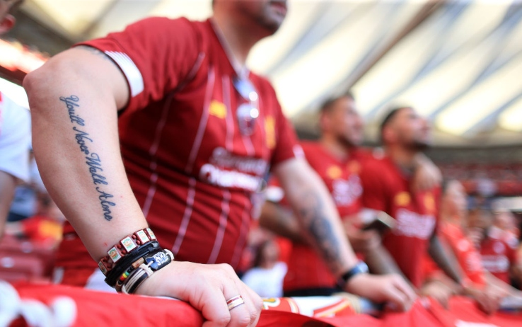 "Liverpool fan tattoo: ""you'll never Walk Alone"""