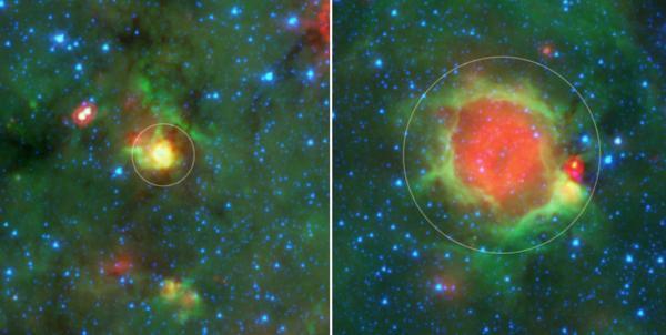Bozzoli stellari scoperti per caso