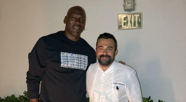 Scorey's former play, Chef in the United States, meets Michael Jordan