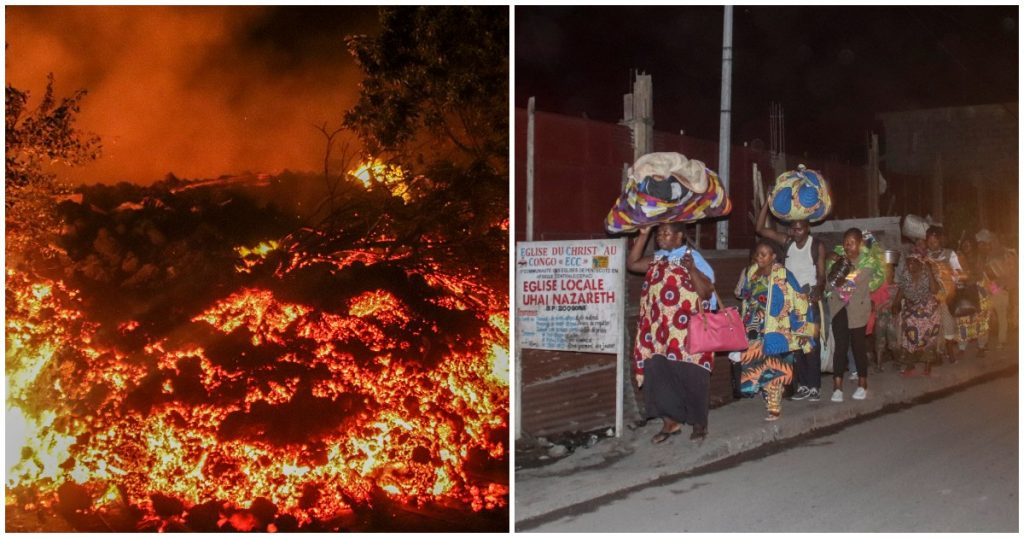 """Congo, part of Goma city evacuated after Nyiragongo volcano was awakened: """"Volcanic eruptions risk from the ground or from Lake Kivu"""""""