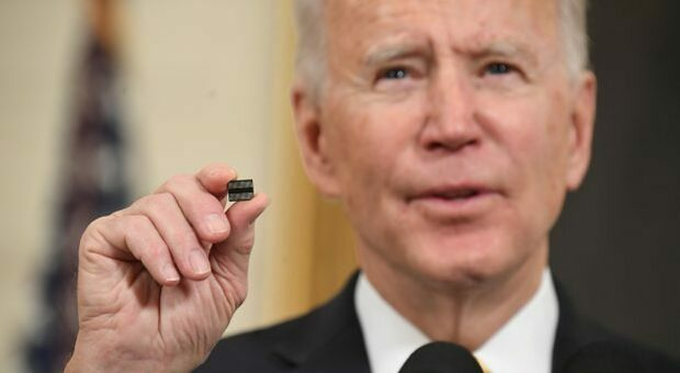 Car components, chip shortage will last until 2023.  Biden is also concerned about large American technology and automotive companies