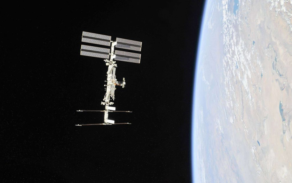 Four people on the International Space Station in January