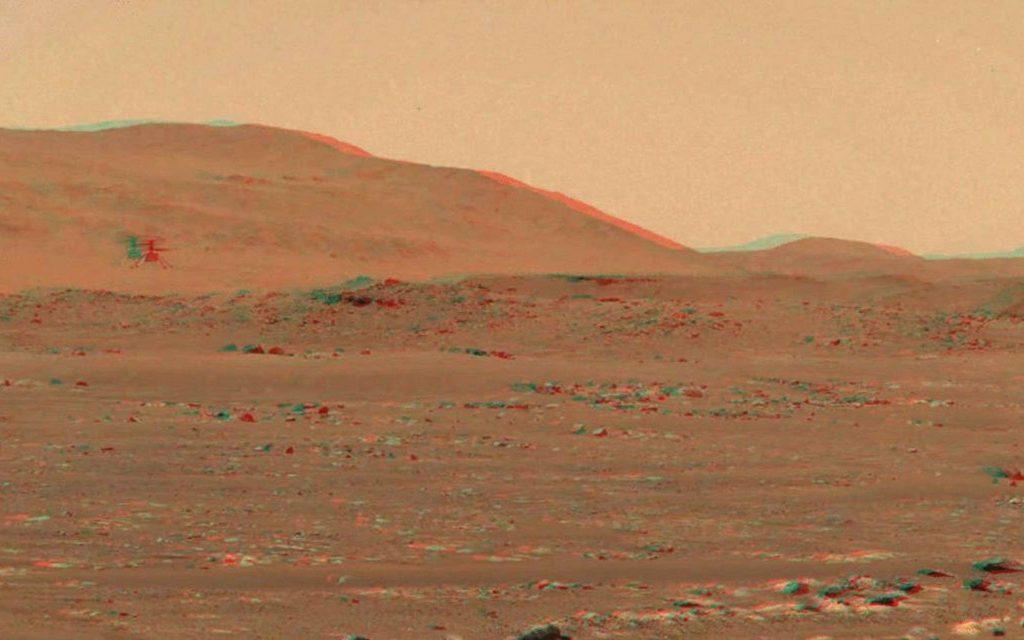 Mars flight with 3D glasses