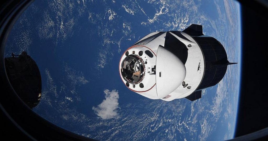 The SpaceX capsule, Crew Dragon, brought the four astronauts back from the International Space Station to Earth