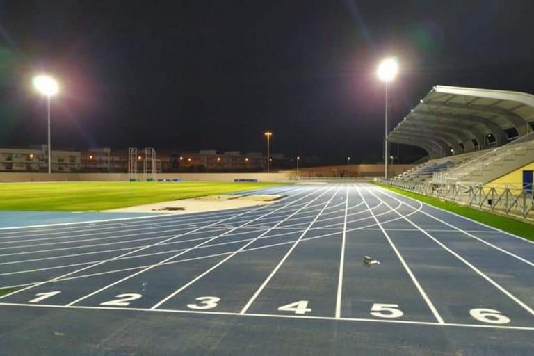 Stadio con pista di atletica
