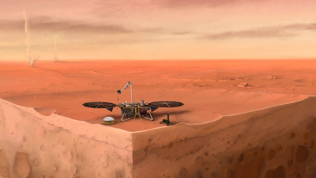NASA InSight is trying to clean up its solar panels on Mars