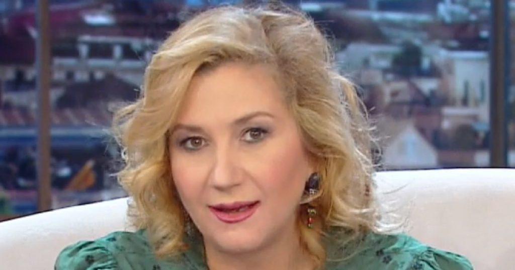 Thing?  A terrifying slip live on the rai, Serena Portoni di Sasso - Libero Quotidiano