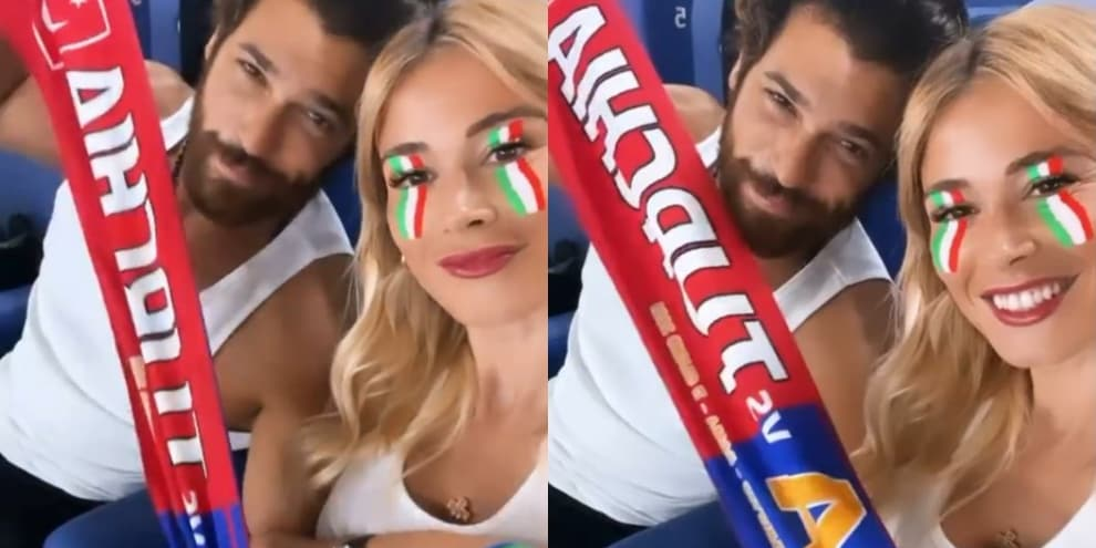 """Diletta Lotta and Yaman were cheering in the """"derby"""" of Italy and Turkey!"""