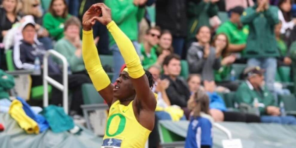 Ihemeje wins the NCAA title on 17.14
