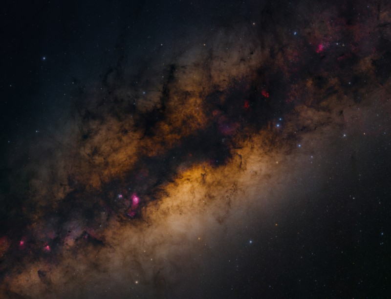 The giant image of the Milky Way was captured from 2.2 gigapixels in just 4 and a half hours