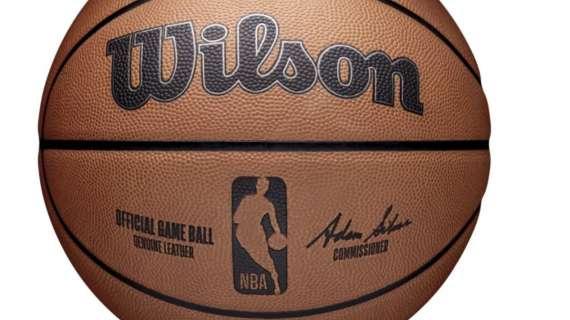 Wilson presenta il pallone ufficiale della stagione NBA 2021/22