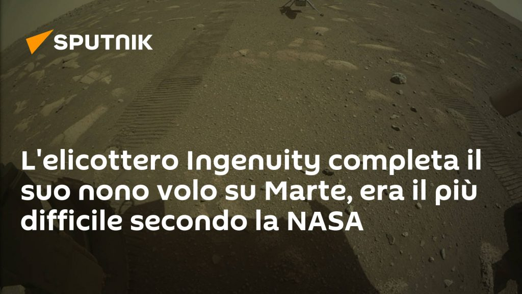The creativity helicopter has completed its ninth flight to Mars, which was the most difficult according to NASA