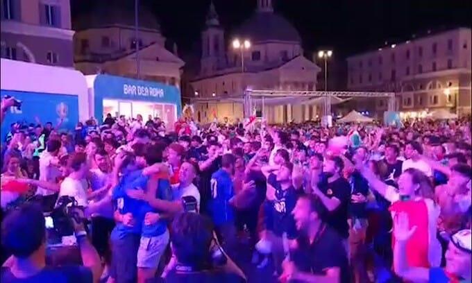 Italy in the final, delirium in Rome