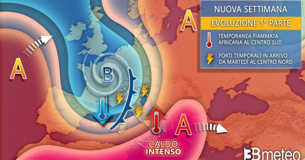 Storms and heatwaves, note Tuesday - Libero Codidiano