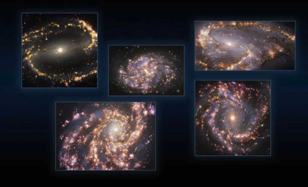 The universe captured in the most beautiful images of extremely bright galaxies: a unique sight