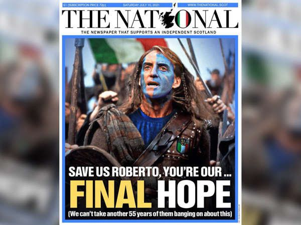 Italy's victory was celebrated all over Scotland