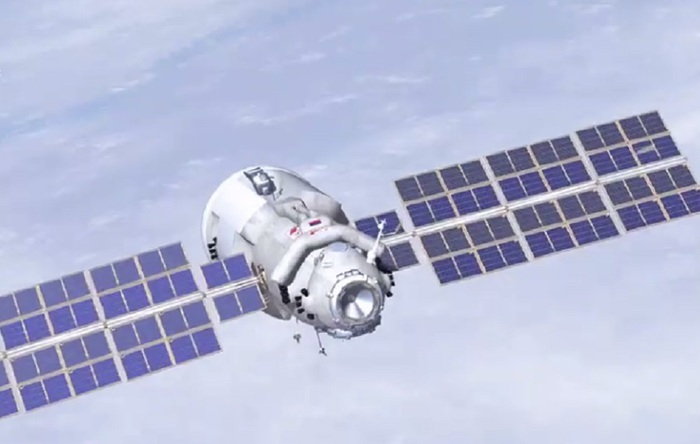 The Russian Nauka Laboratory towards the space station directly from 2.30 in the afternoon - space and astronomy