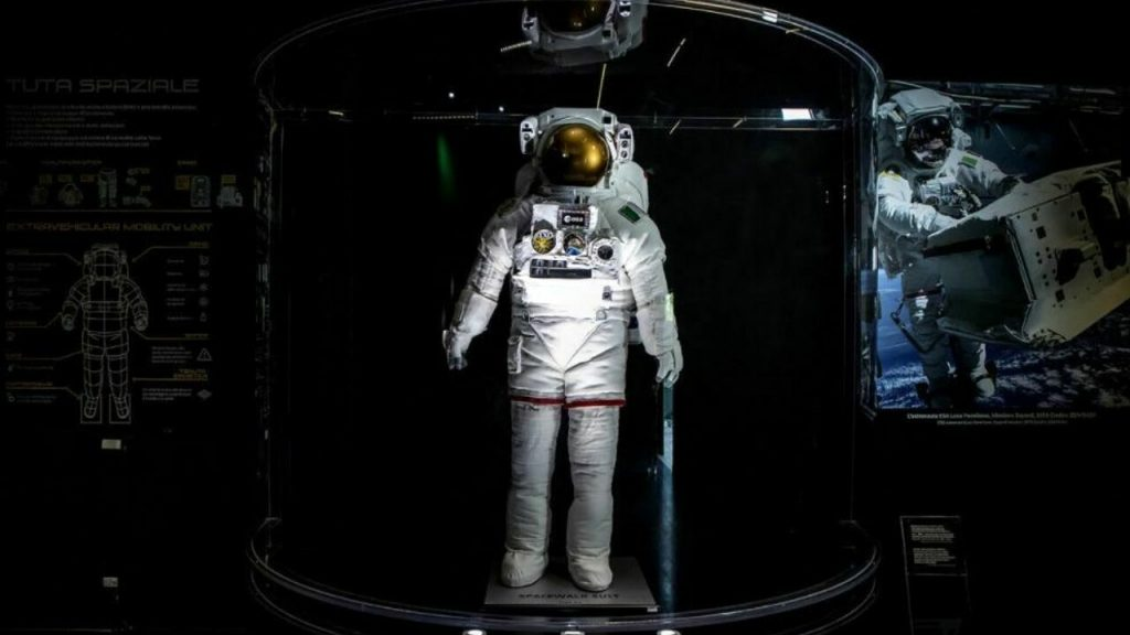 Valmontone, the spacesuit of astronaut Luca Palmisano at MagicLand
