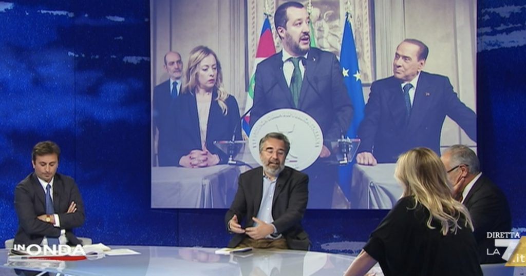 """""""Draghi Al Guerrero? Meloni's paradox, because she will vote immediately"""" - Libero Cottidiano"""
