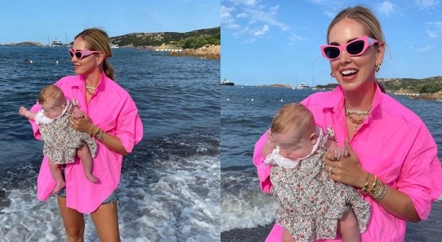 """Chiara Ferragni, first photo of Vittoria on the beach in Sardinia.  Details that infuriate the masses: """"This is not possible ..."""""""