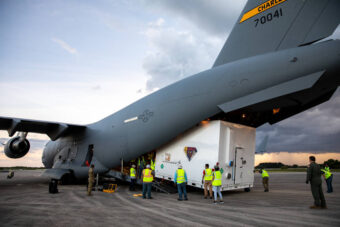 NASA's Lucy probe arrives in a cargo plane