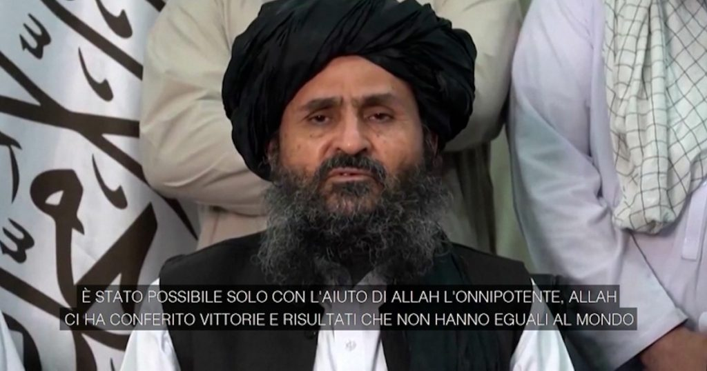 """Afghanistan, video of Taliban leader Abdul Ghani Baradar: """"We will work with all our might to ensure law, order and a better life"""""""