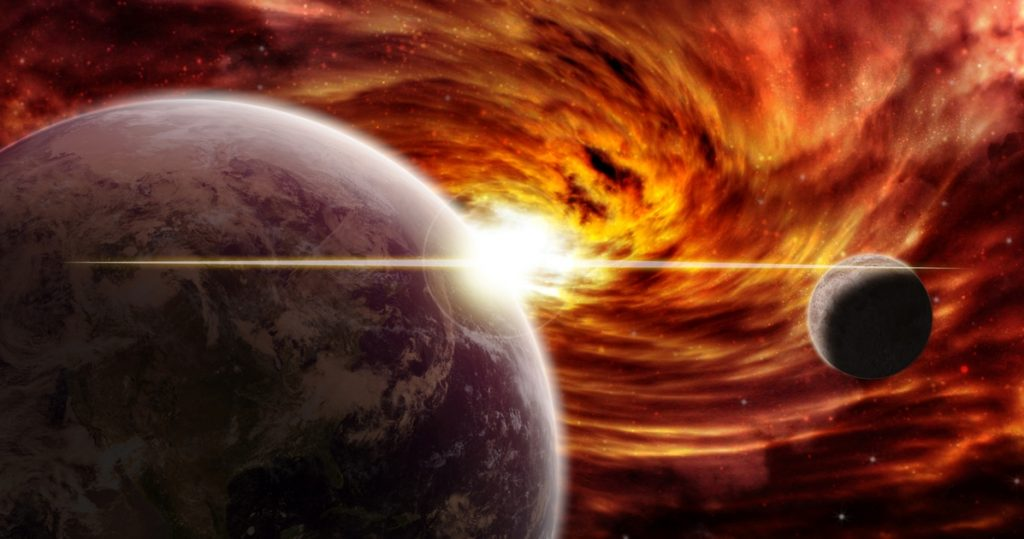 """Space, disaster after disaster.  """"In this way it devours millions of worlds and stars"""" - Libero Quotidiano"""