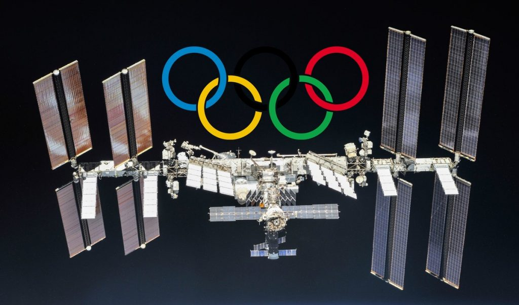 Astronauts on the International Space Station show us their own version of the Olympic Games