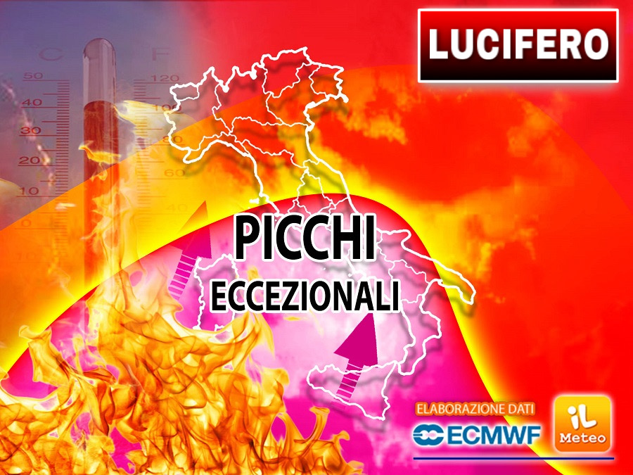 Lucifer, the anti-rotation African arrives!  It will be the strongest heat wave in the summer.  Temperature at 47°C