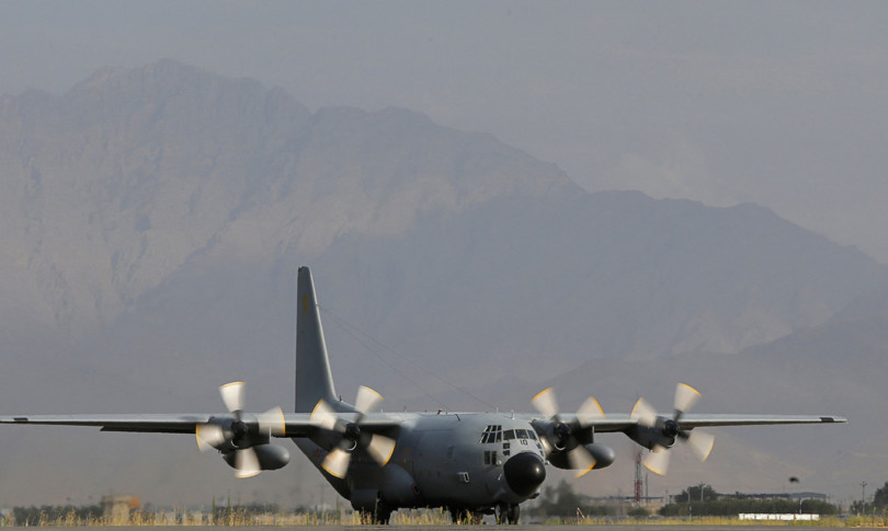 Shooting of an Italian C-130 aircraft taking off from Kabul
