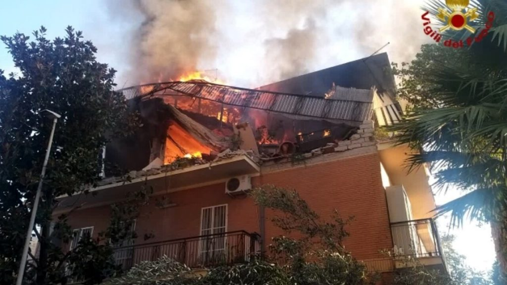 Torre Angela, Fire and Explosion via Atteone