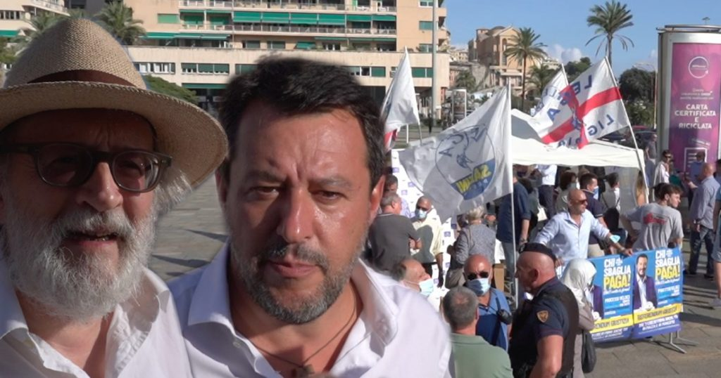 """Lega, the voices of Green Boss supporters and in support of nuclear power in Gazebo.  Salvini insists on citizen income: """"I will remove it"""""""