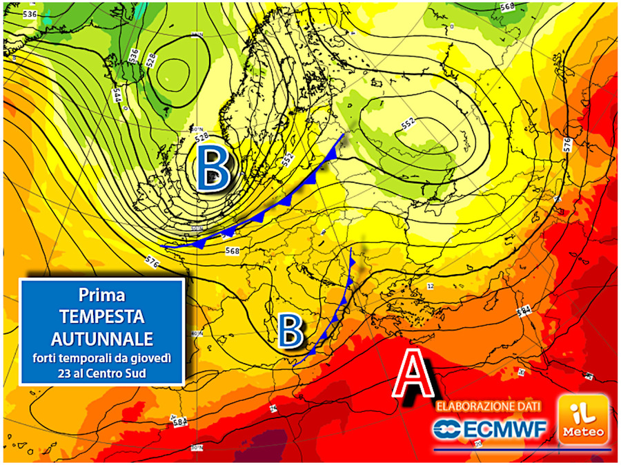 Next week: the first phase of autumn, the dangers of storms, even strong ones