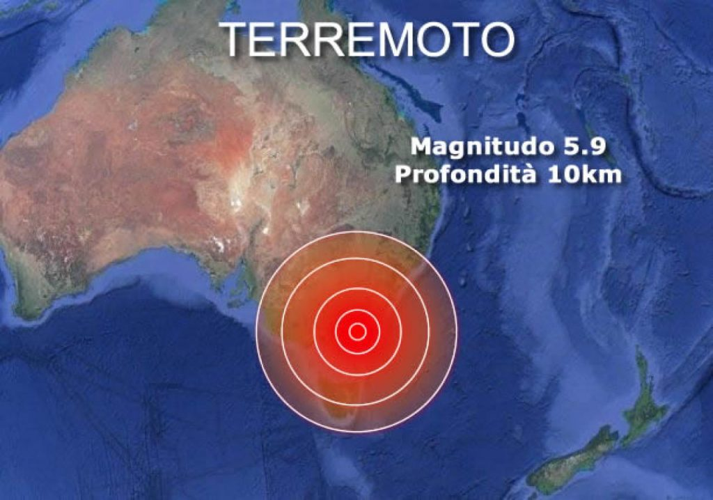 Strong earthquake in Australia near Melbourne, 5.9 magnitude earthquake is a rare event.  Video «3B Meteo