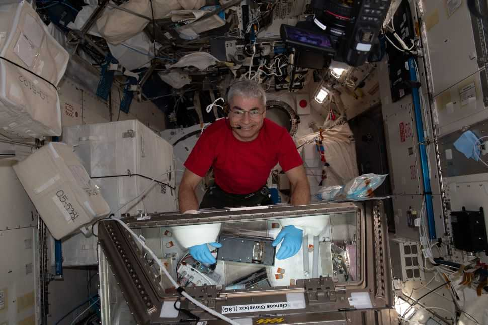 A NASA astronaut gets a residence permit aboard the International Space Station