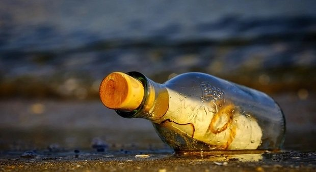A bottle with a message was found after 37 years