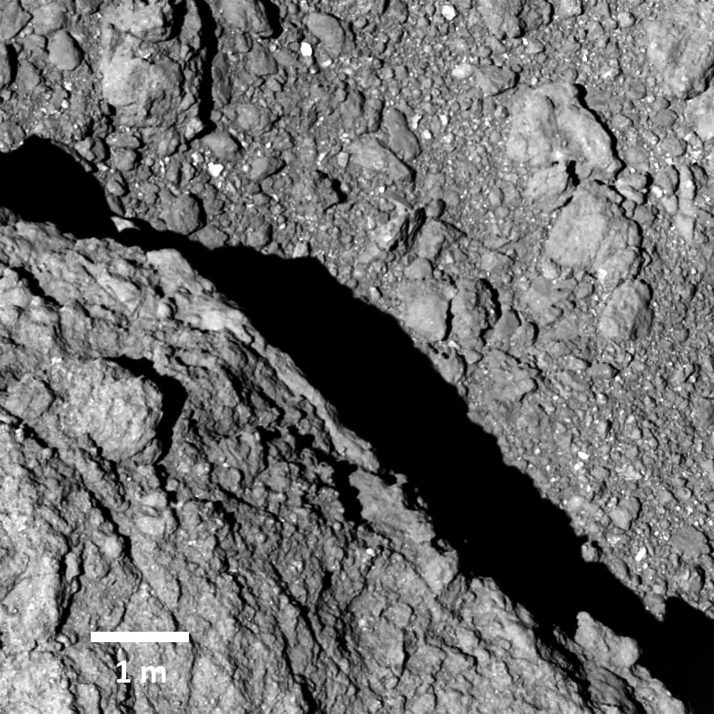 A discussion about the presence of dust on the asteroid Ryugu
