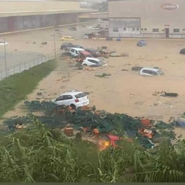 Bad weather and devastating rains in Spain: flooded sites in the provinces of Huelva and Badajoz