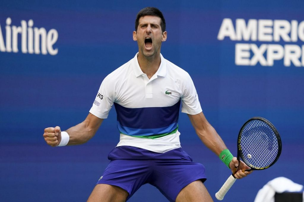 Djokovic shows emotion at the US Open.  party no.  1 lose