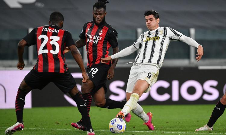 Juve-Milan LIVE, le formazioni ufficiali: De Ligt e Chiesa out, Cuadrado ala. Tomori con Kjaer e Romagnoli