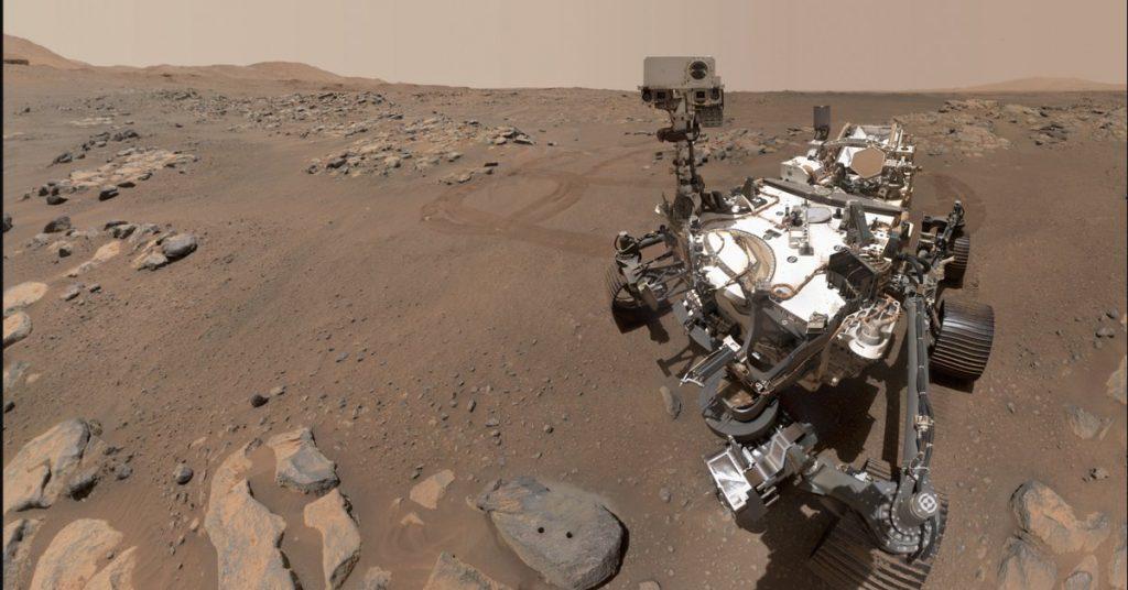 NASA's rover took selfies on Mars