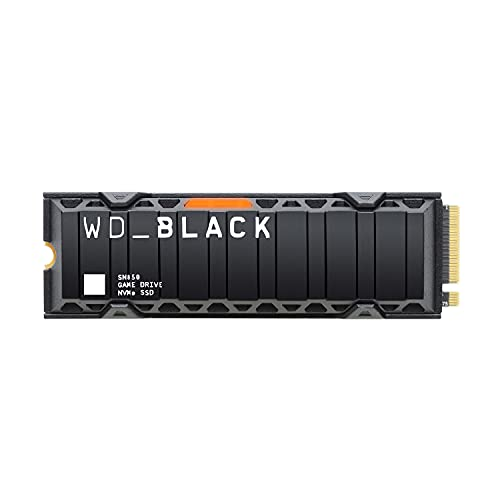 WD BLACK SN850 500GB NVMe SSD for Indoor Gaming with Heat Sink Technology;  PCIe Gen4 technology, up to 7000MB/s read speed, M.2 2280, with heatsink, PlayStation 5 compatible