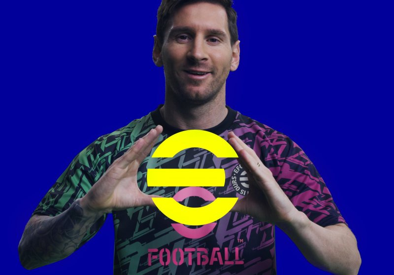 It looks like Messi is happy to be on the cover of eFootball