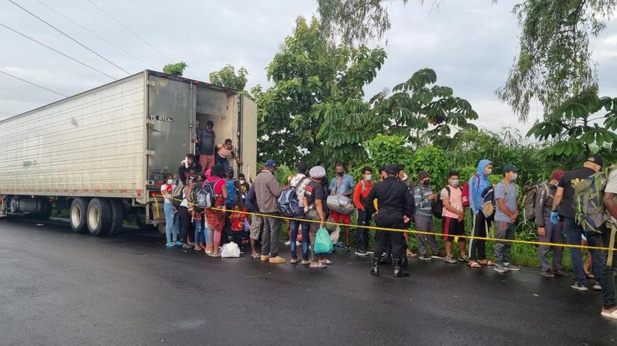 In Guatemala, more than 100 immigrants were found trapped in a container.  They wanted to reach America