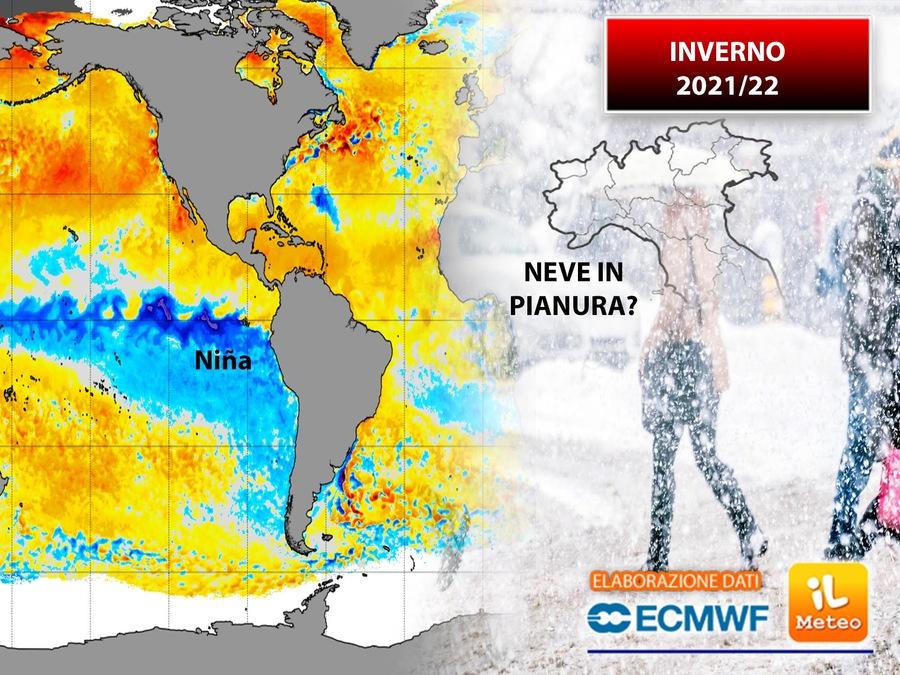INVERNO 2021/2022: la Nina potrebbe condizionare la stagione fredda, ma ci sono dubbi