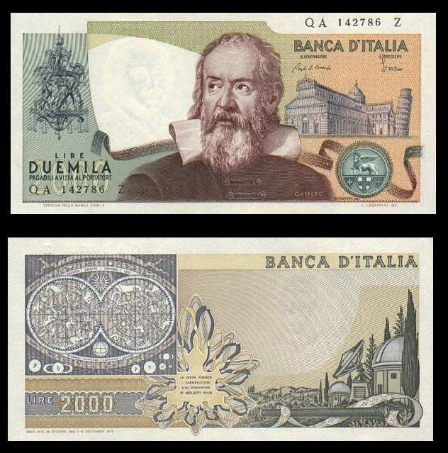 Two thousand pounds 2000_Galileo_Galilei