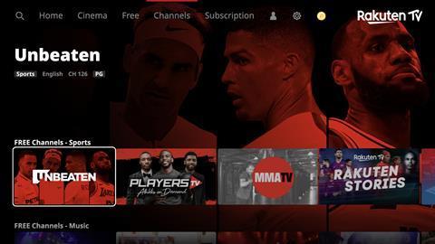 Rakuten TV expands its free sports offer